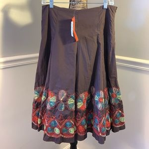 SWEET by MISS ME Embroidered Full Circle Skirt M